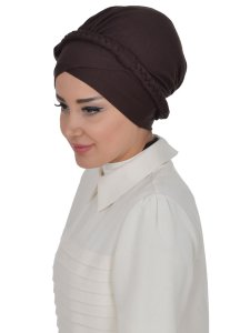 Olivia Brun Bomull Turban Cancer Krebs Ayse Turban 321005-2