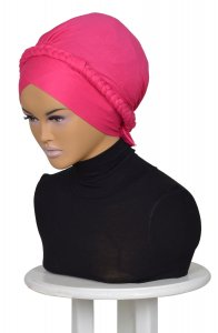 Olivia Fuchsia Bomull Turban Cancer Krebs Ayse Turban 3210010-2