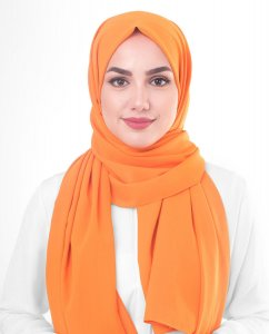 Orange Pepper Orange Georgette Hijab 5XA48a
