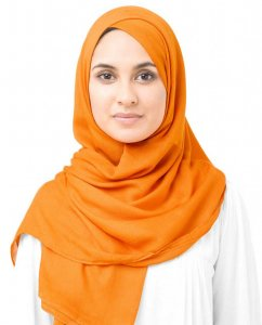 Orange Pepper Orange Viscose Hijab 5HA58a