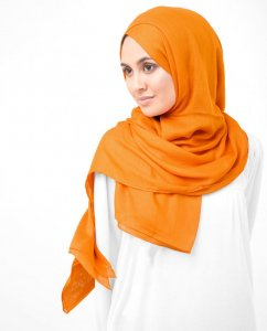 Orange Pepper Orange Viscose Hijab 5HA58b