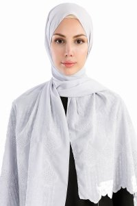Özlem Grey Hijab Madame Polo 130006-1