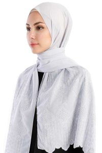 Özlem Grey Hijab Madame Polo 130006-2