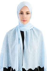 Özlem Light Blue Hijab Madame Polo 130004-1