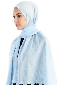 Özlem Light Blue Hijab Madame Polo 130004-2