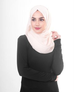 Pale Dogwood - Powder Cotton Voile Hijab 5TA82b
