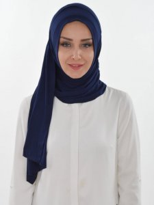Pia Navy Blue Practical Hijab Ayse Turban 321405a