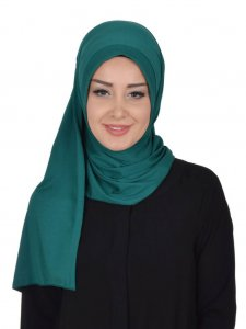 Pia Dark Green Practical Hijab Ayse Turban 321411a