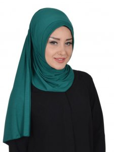Pia Dark Green Practical Hijab Ayse Turban 321411b
