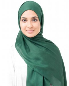 Pineneedle Dark Green Viscose Hijab InEssence 5HA57a