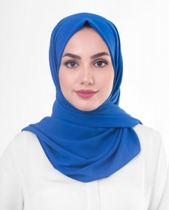 Princess Blue  Blå Georgette Hijab 5XA56a