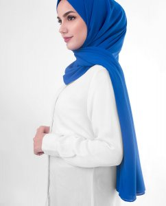 Princess Blue  Blå Georgette Hijab 5XA56b