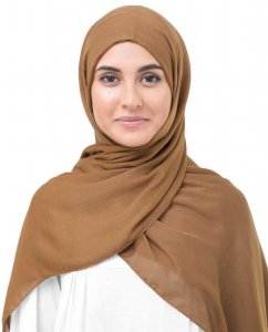 Pumpkin Spice Brown Viscose Hijab InEssence 5HA64a