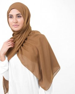 Pumpkin Spice Brown Viscose Hijab InEssence 5HA64b