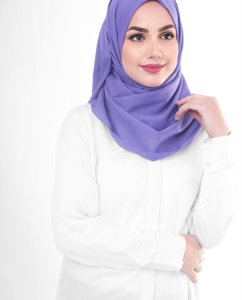 Purple Opulence - Purple Cotton Voile Hijab 5TA91c
