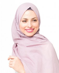 Quail Dusty Pink Cotton Voil Hijab 5TA24d