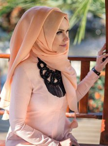 Queen Dusty Pink Hijab Muslima Wear 310112a
