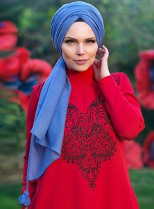Queen Indigo Hijab Muslima Wear 310107a