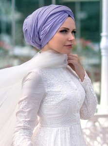 Queen - Light Purple Hijab Muslima Wear 310114a