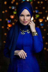 Queen Navy Blue Hijab Muslima Wear 310102a