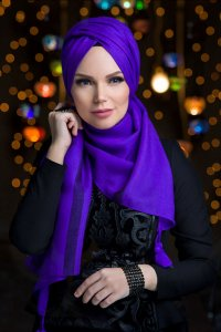 Queen Dark Purple Hijab Muslima Wear 310115a