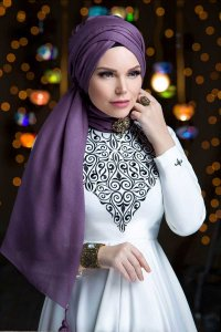 Queen Taupe Hijab Muslima Wear 310120b