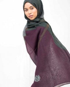Lines Of Blocks Hijab - Silk Route 5A415a