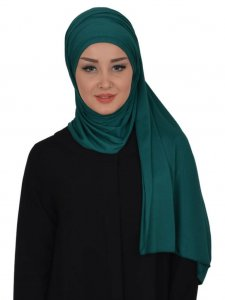 Rebecca Dark Green Cotton Turban Ayse Turban 322310a