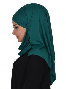 Rebecca Dark Green Cotton Turban Ayse Turban 322310b