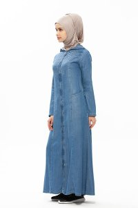 Sana Denim Klänning Med Hood Neways 280384b