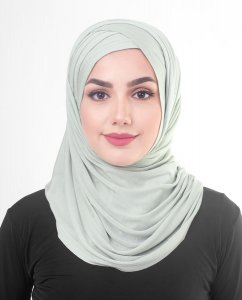 Sea Foam - Light Gray Viscose Jersey Hijab 5VA69a