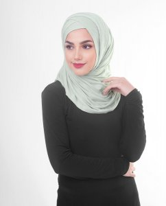 Sea Foam - Light Gray Viscose Jersey Hijab 5VA69b