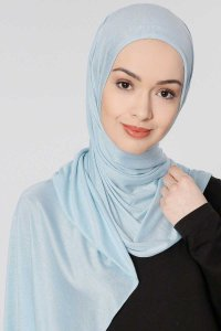 Seda Light Blue Jersey Hijab Ecardin 200230a