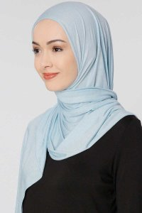 Seda Light Blue Jersey Hijab Ecardin 200230b