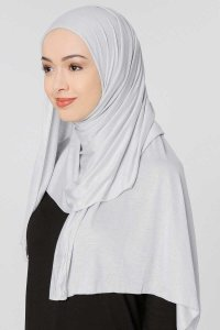 Seda Light Grey Jersey Hijab Ecardin 200228b