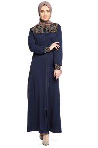 Selda - Navy Blue Abaya - Miss Halima
