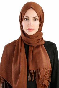 Selin Light Brown Pashmina Hijab Özsoy 160206-1