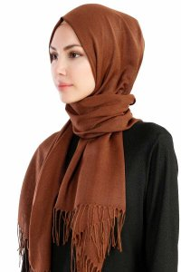 Selin Light Brown Pashmina Hijab Özsoy 160206-2