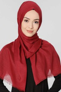 Selma Bordeaux Plain Color Hijab Gülsoy 300208a