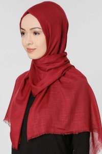 Selma Bordeaux Plain Color Hijab Gülsoy 300208b