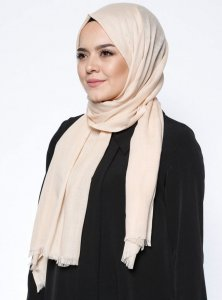 Selma Latte Plain Color Hijab Gülsoy 300227a