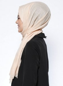 Selma Latte Plain Color Hijab Gülsoy 300227b