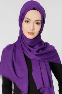Selma Purple Plain Color Hijab Gülsoy 300216a
