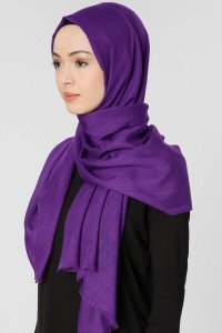 Selma Purple Plain Color Hijab Gülsoy 300216b