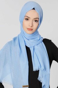 Selma Light Blue Plain Color Hijab Scarf Shawl Gülsoy 300229a