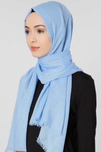Selma Light Blue Plain Color Hijab Scarf Shawl Gülsoy 300229b