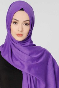 Selma Light Purple Plain Color Hijab Scarf Shawl Gülsoy 300220a