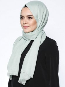 Selma Mint Plain Color Hijab Gülsoy 300219a