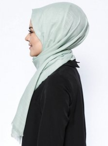 Selma Mint Plain Color Hijab Gülsoy 300219b