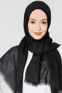 Selma Black Plain Color Hijab Gülsoy 300201aa